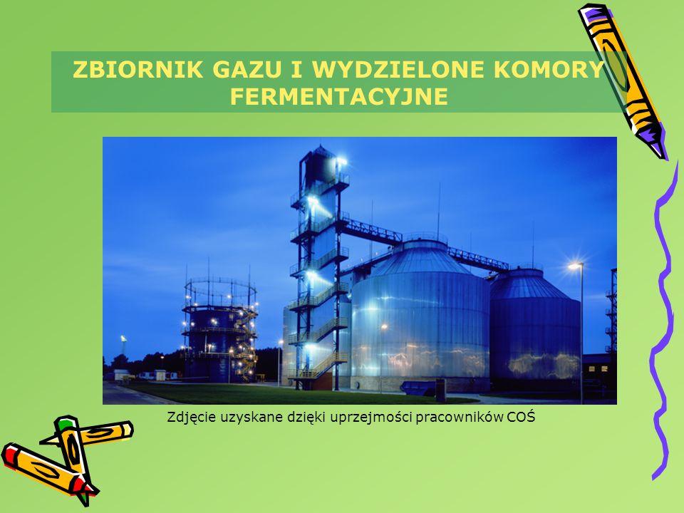 Zdjęcie uzyskane dzięki uprzejmości pracowników COŚ ZBIORNIK GAZU I WYDZIELONE KOMORY FERMENTACYJNE