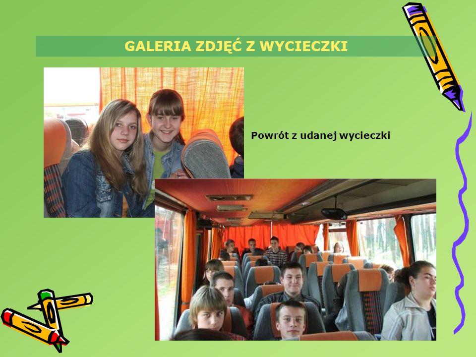 GALERIA ZDJĘĆ Z WYCIECZKI Powrót z udanej wycieczki