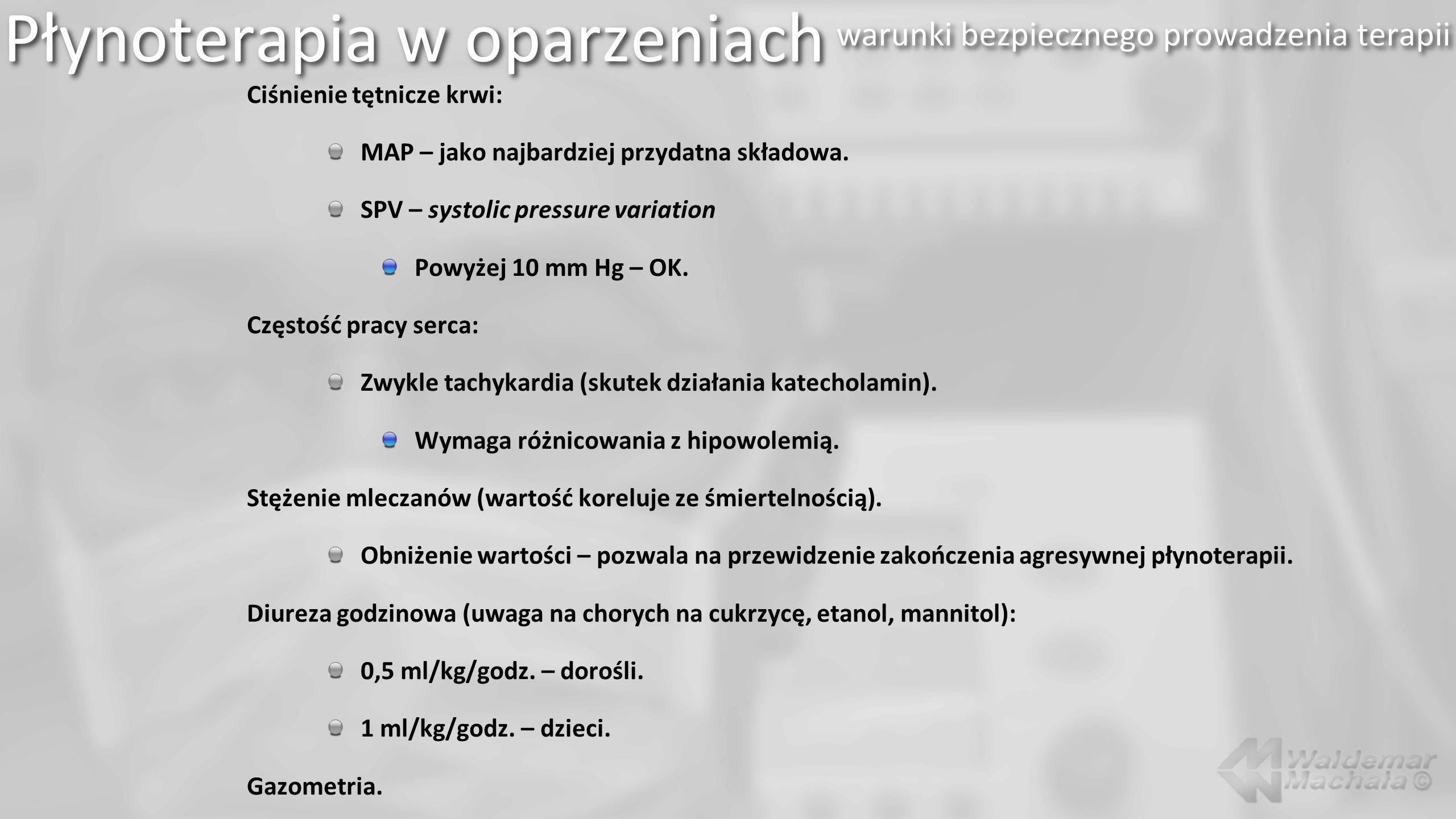 Ciśnienie tętnicze krwi: MAP – jako najbardziej przydatna składowa.