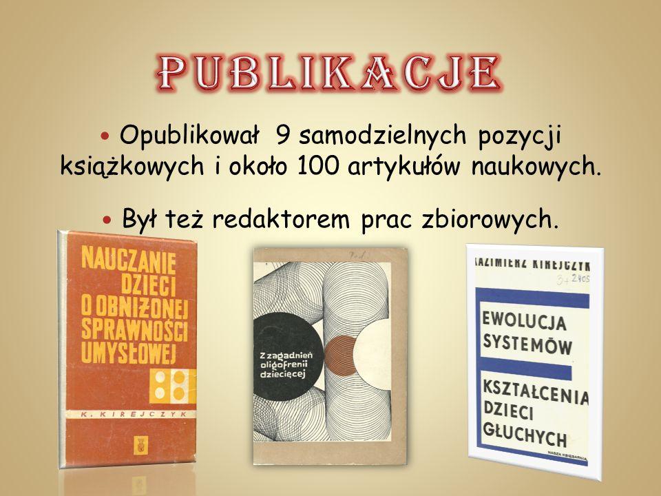Opublikował 9 samodzielnych pozycji książkowych i około 100 artykułów naukowych. Był też redaktorem prac zbiorowych.