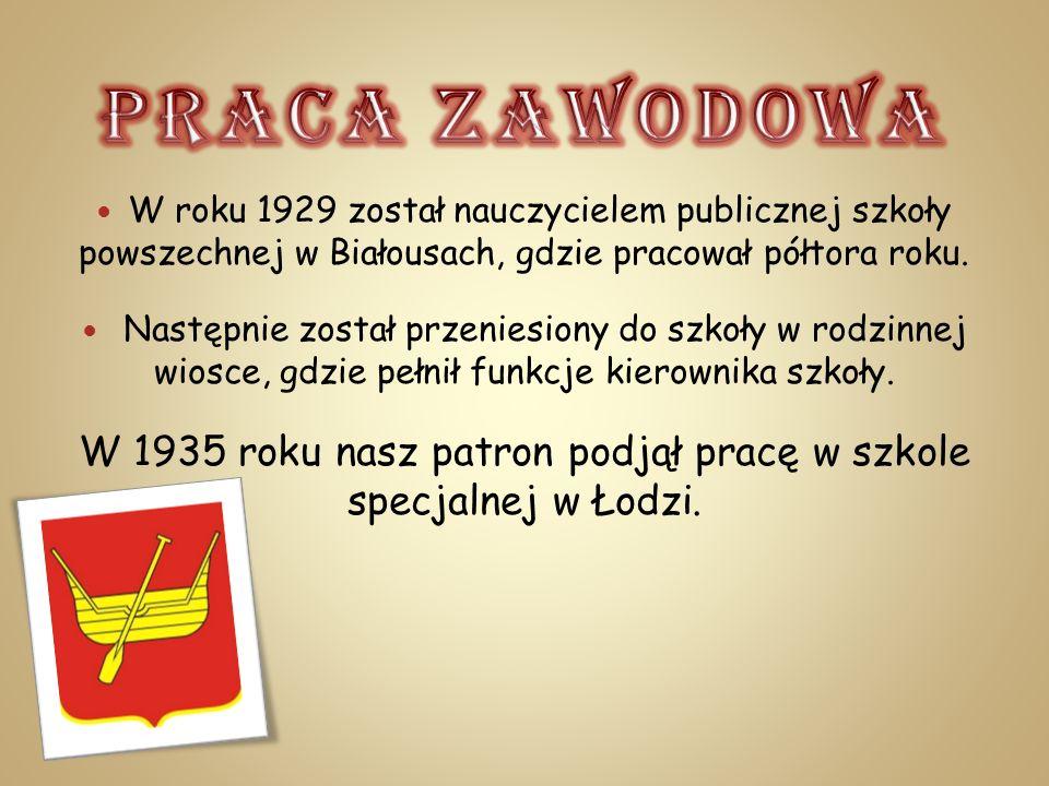W roku 1929 został nauczycielem publicznej szkoły powszechnej w Białousach, gdzie pracował półtora roku. Następnie został przeniesiony do szkoły w rod