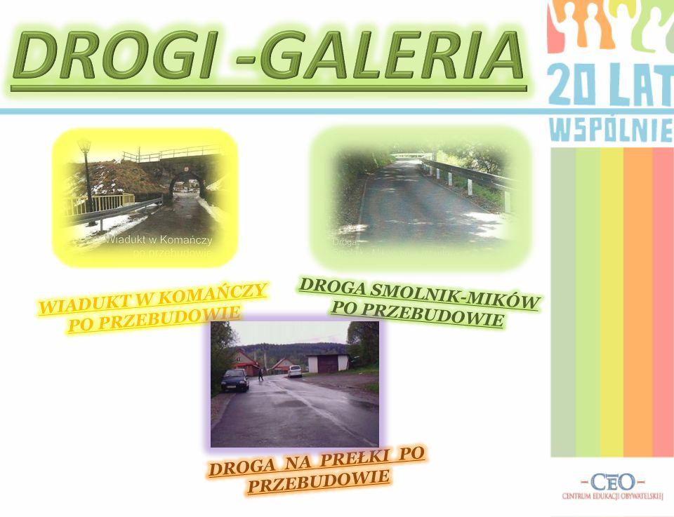 W ciągu 20 lat na terenie gminy wybudowano i wyremontowano wiele odcinków dróg m.in.: a)remont drogi gminnej tzw.