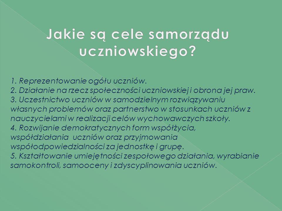 Zadaniem Samorządu Uczniowskiego jest zaangażowanie społeczności uczniowskiej do współpracy w celu tworzenia życia szkoły.