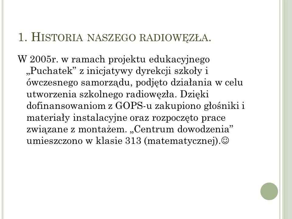 1. H ISTORIA NASZEGO RADIOWĘZŁA. W 2005r.