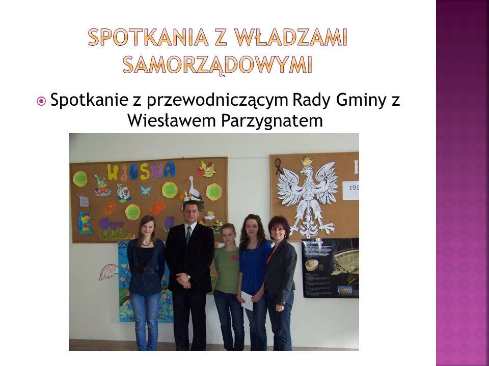 Spotkanie z przewodniczącym Rady Gminy z Wiesławem Parzygnatem