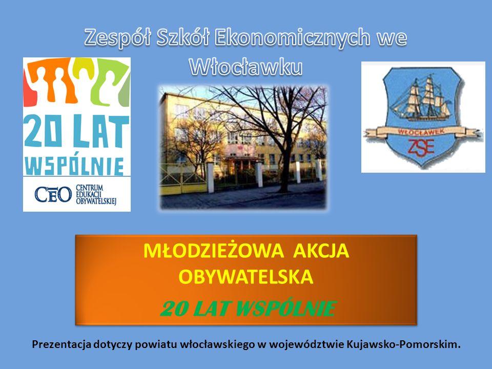 MŁODZIEŻOWA AKCJA OBYWATELSKA 20 LAT WSPÓLNIE MŁODZIEŻOWA AKCJA OBYWATELSKA 20 LAT WSPÓLNIE Prezentacja dotyczy powiatu włocławskiego w województwie K