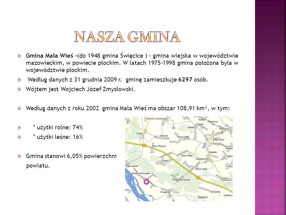 Gmina Mała Wieś -(do 1948 gmina Święcice ) - gmina wiejska w województwie mazowieckim, w powiecie płockim. W latach 1975-1998 gmina położona była w wo