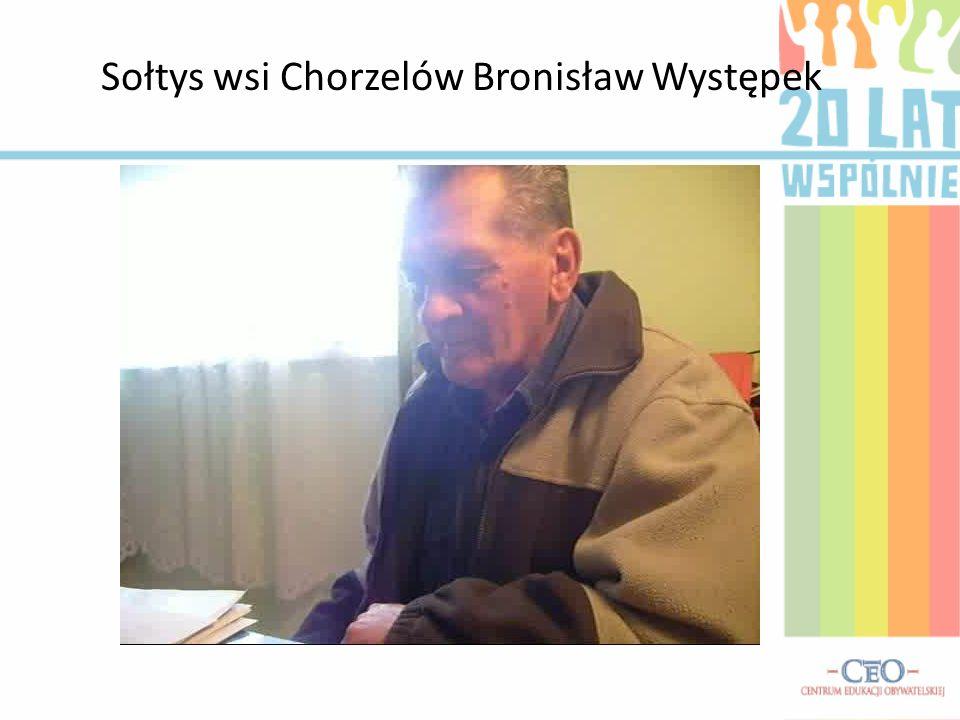 Sołtys wsi Chorzelów Bronisław Występek