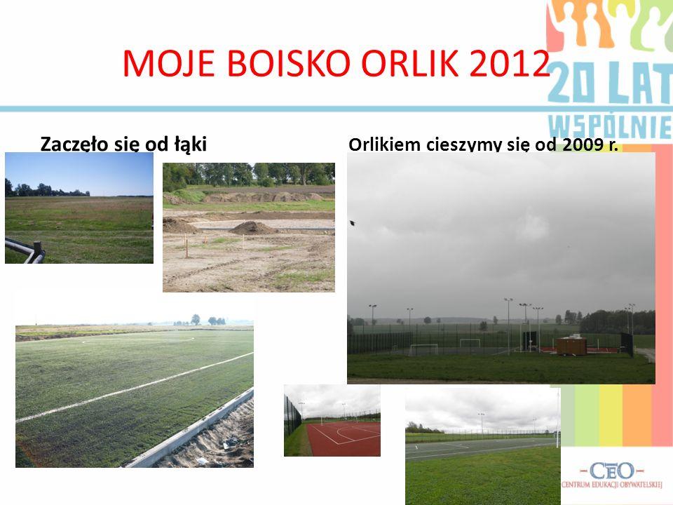 MOJE BOISKO ORLIK 2012 Zaczęło się od łąki Orlikiem cieszymy się od 2009 r.