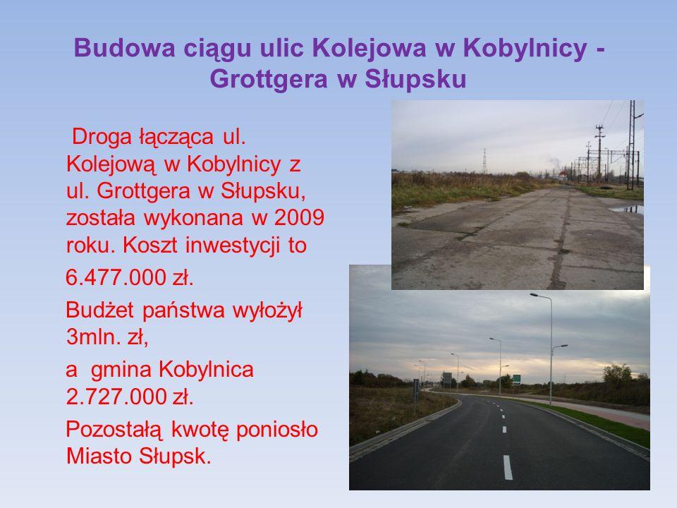 Budowa ciągu ulic Kolejowa w Kobylnicy - Grottgera w Słupsku Droga łącząca ul.