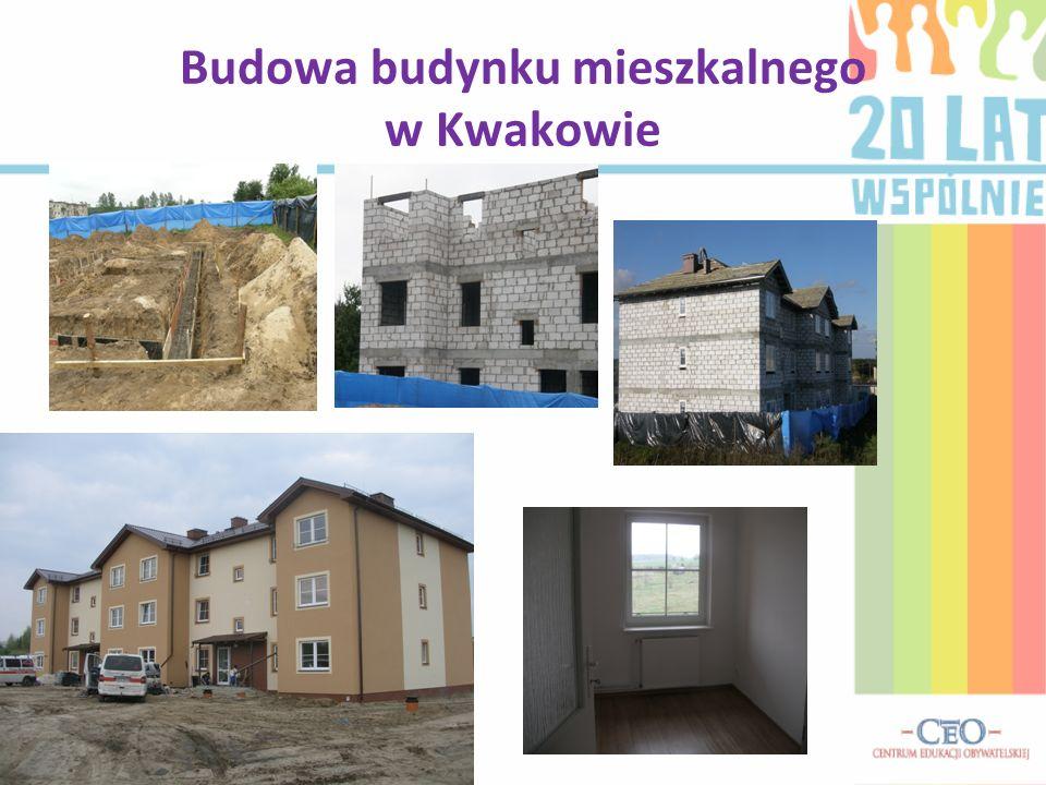 Budowa budynku mieszkalnego w Kwakowie