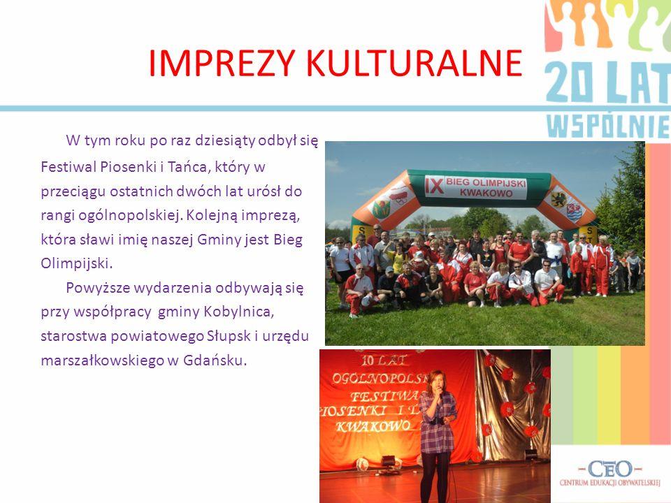 IMPREZY KULTURALNE W tym roku po raz dziesiąty odbył się Festiwal Piosenki i Tańca, który w przeciągu ostatnich dwóch lat urósł do rangi ogólnopolskiej.