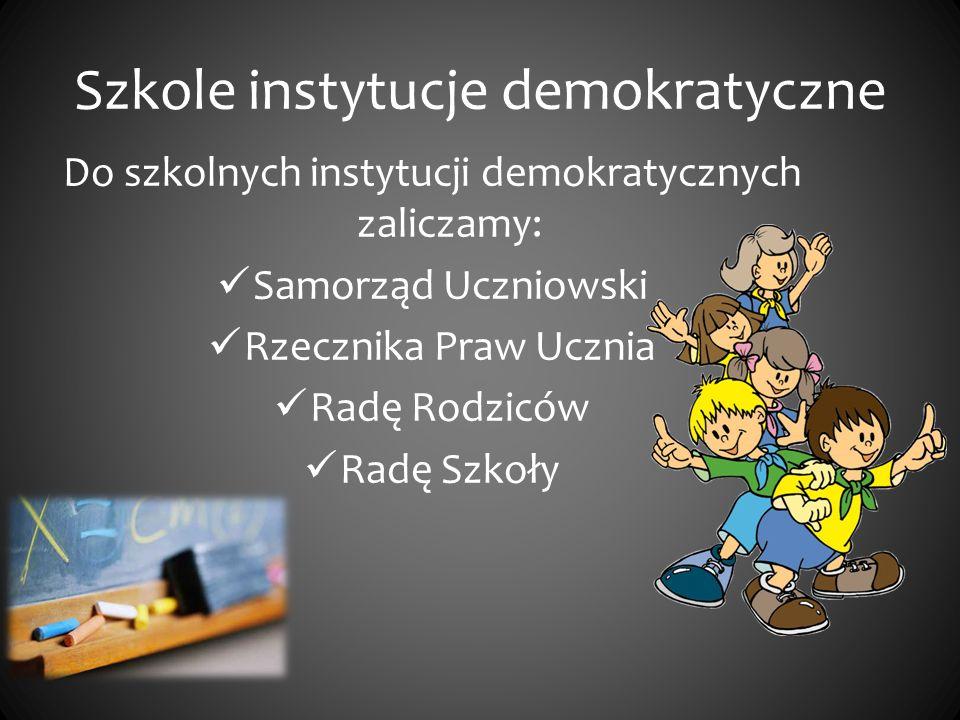 Samorząd Uczniowsk i Ustawa o systemie oświaty z dnia 7 grudnia 1991 roku gwarantuje powołanie samorządu uczniowskiego w każdej szkole.