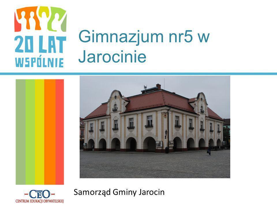 Gimnazjum nr5 w Jarocinie Samorząd Gminy Jarocin