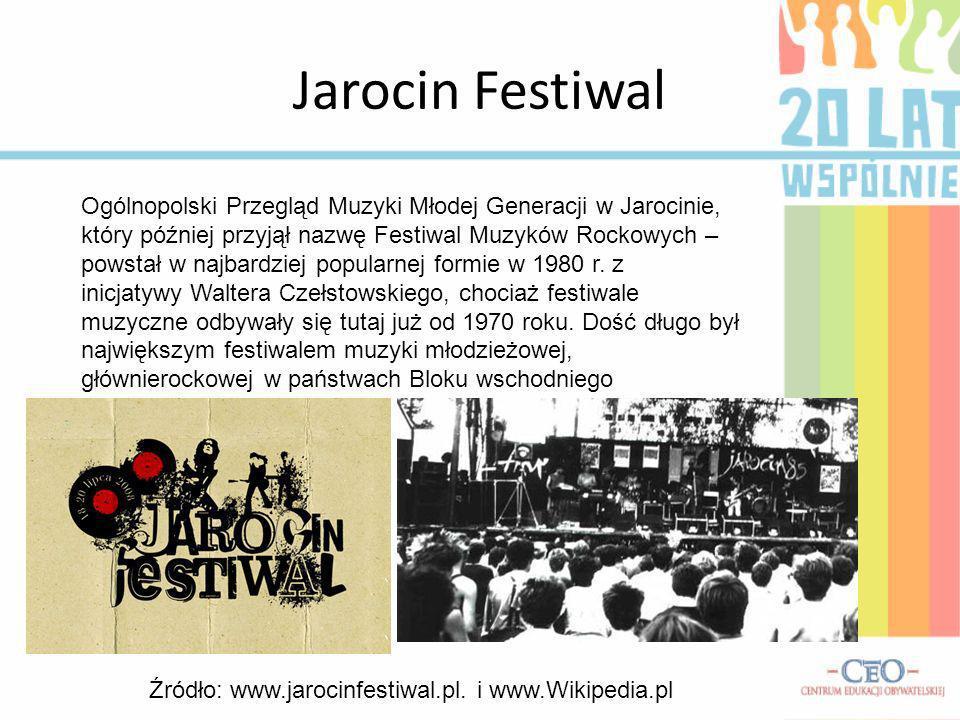 Jarocin Festiwal Ogólnopolski Przegląd Muzyki Młodej Generacji w Jarocinie, który później przyjął nazwę Festiwal Muzyków Rockowych – powstał w najbard