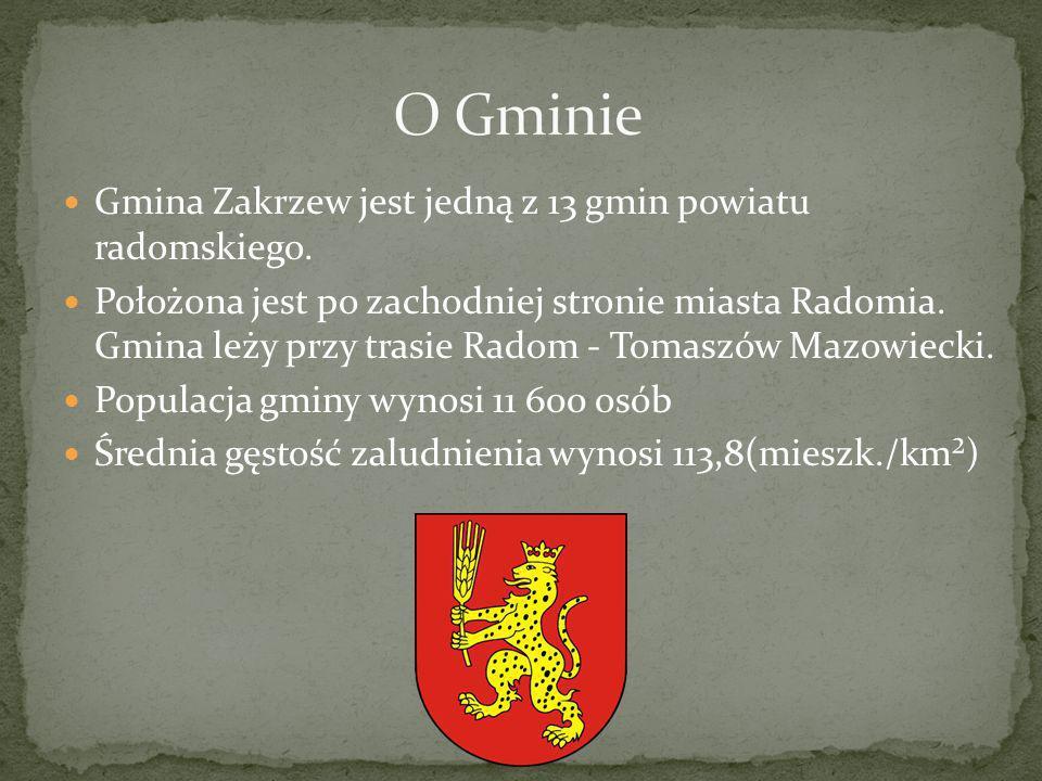 Gmina Zakrzew jest jedną z 13 gmin powiatu radomskiego. Położona jest po zachodniej stronie miasta Radomia. Gmina leży przy trasie Radom - Tomaszów Ma