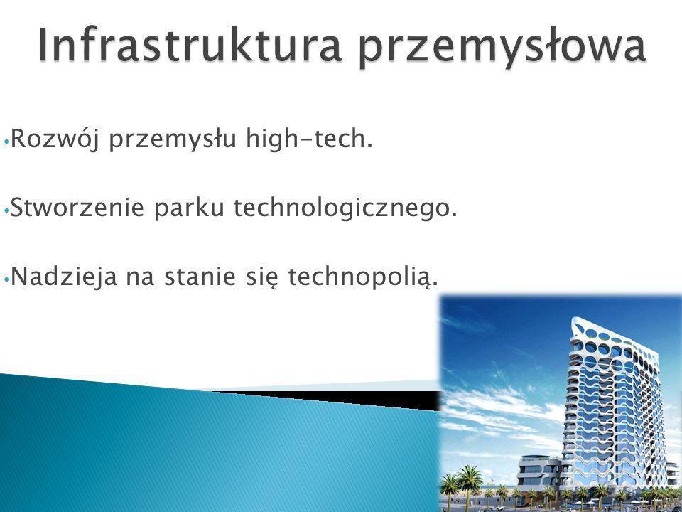Rozwój przemysłu high-tech. Stworzenie parku technologicznego. Nadzieja na stanie się technopolią.