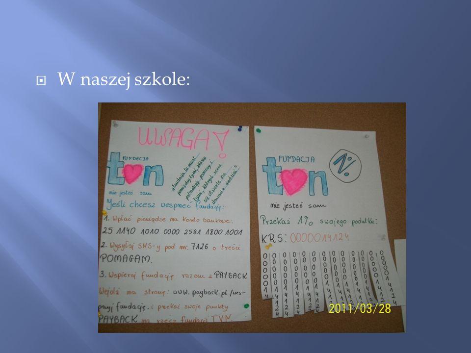 W naszej szkole: