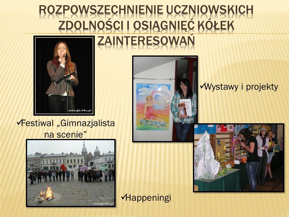 Festiwal Gimnazjalista na scenie Wystawy i projekty Happeningi