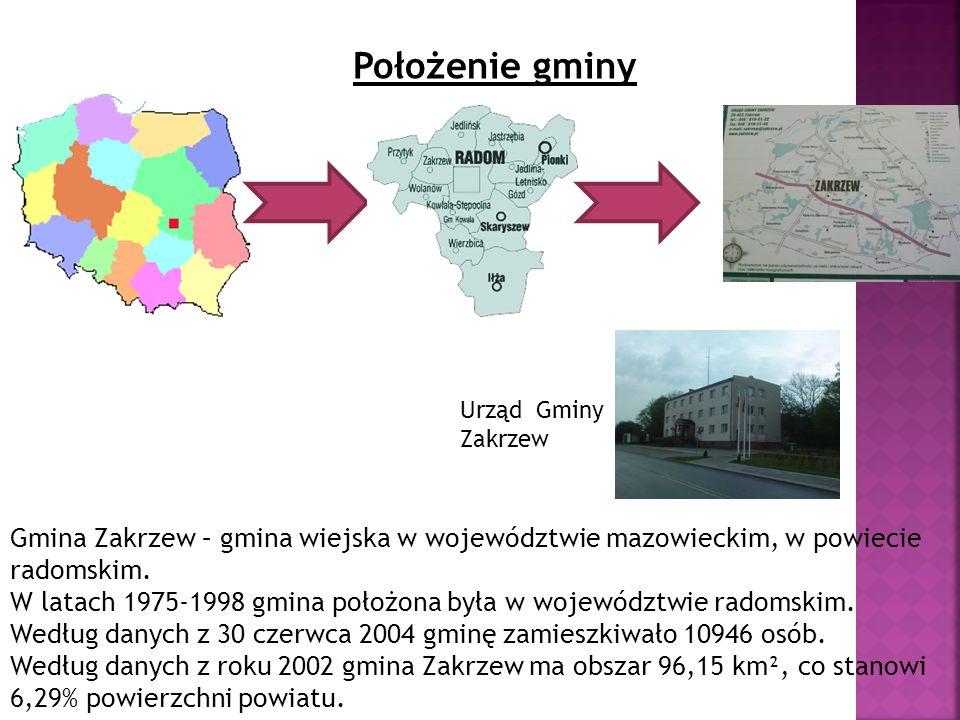 Położenie gminy Gmina Zakrzew – gmina wiejska w województwie mazowieckim, w powiecie radomskim. W latach 1975-1998 gmina położona była w województwie