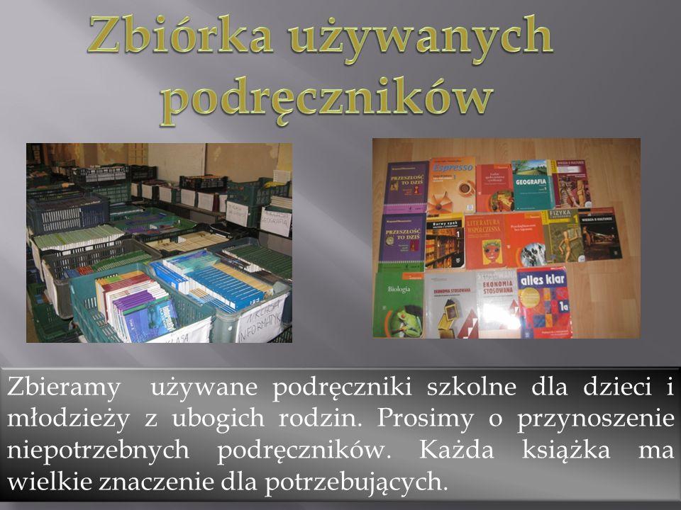 Zbieramy używane podręczniki szkolne dla dzieci i młodzieży z ubogich rodzin. Prosimy o przynoszenie niepotrzebnych podręczników. Każda książka ma wie