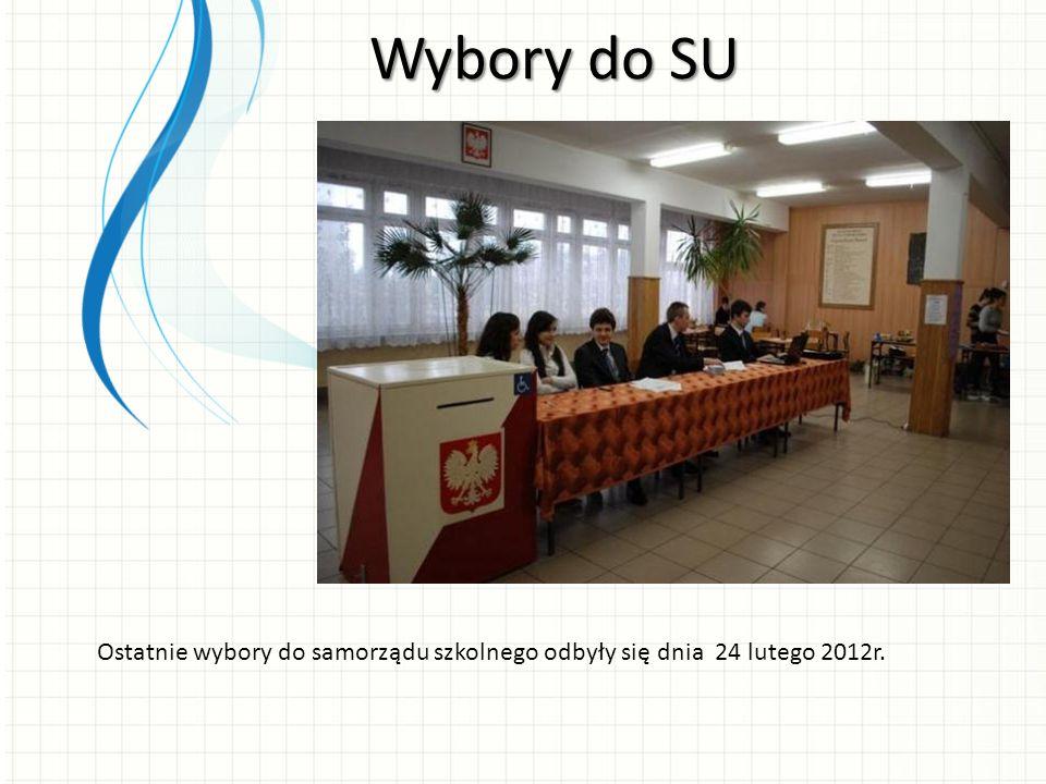 Wybory do SU Ostatnie wybory do samorządu szkolnego odbyły się dnia 24 lutego 2012r.