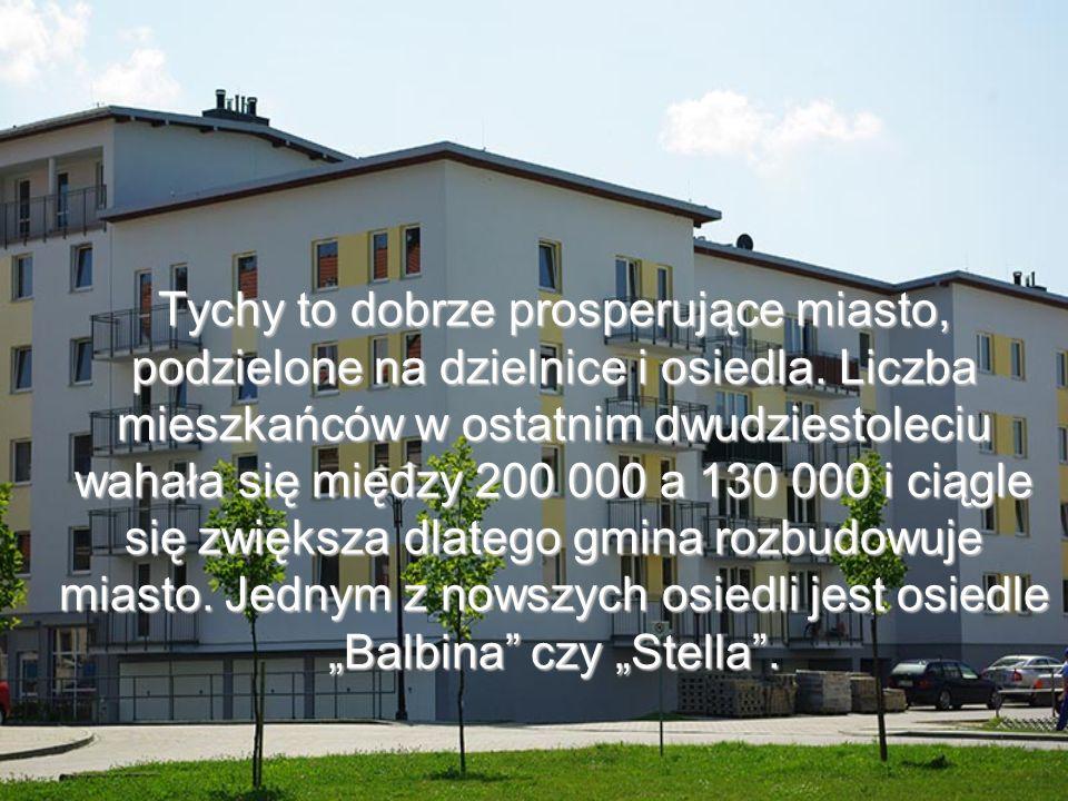Osiedla, czyli miejsca zamieszkania ludności Tychów są wyposażone w nowoczesne place zabaw.