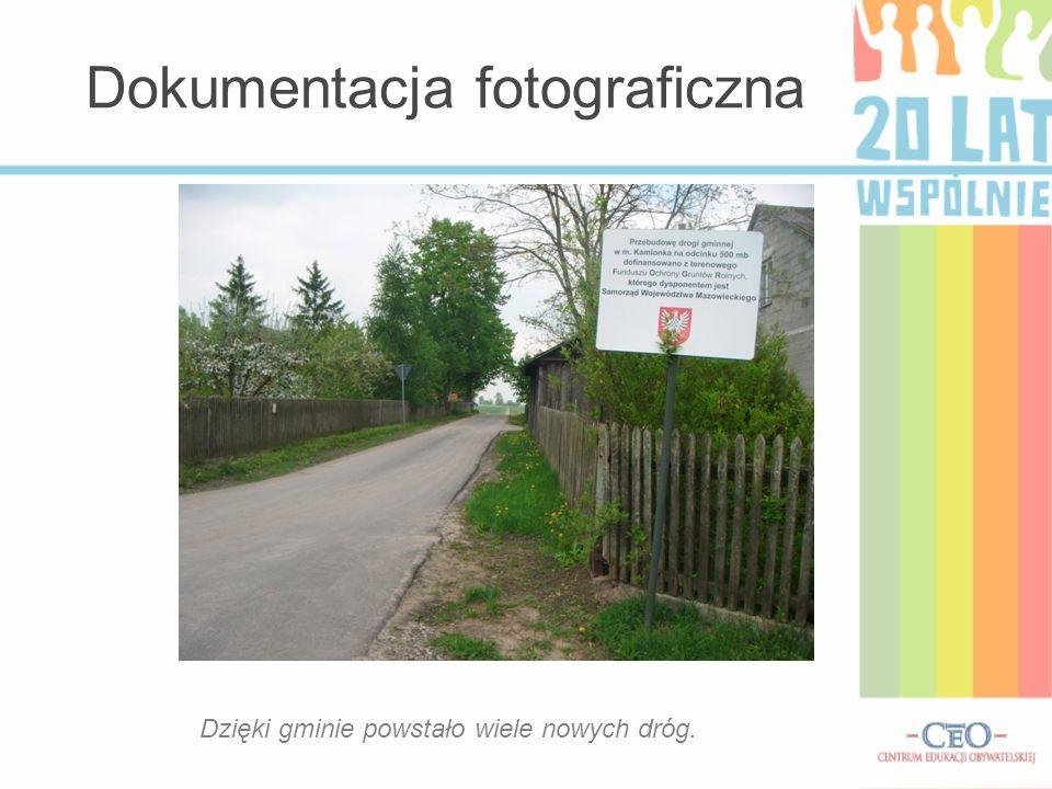 Dokumentacja fotograficzna Dzięki gminie powstało wiele nowych dróg.