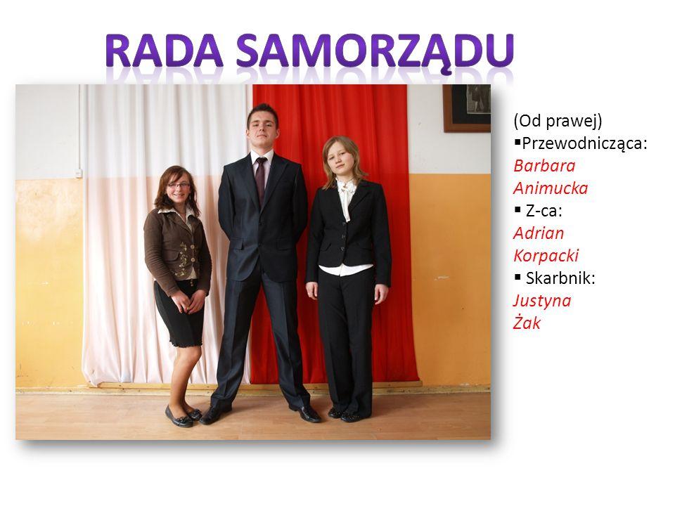 (Od prawej) Przewodnicząca: Barbara Animucka Z-ca: Adrian Korpacki Skarbnik: Justyna Żak