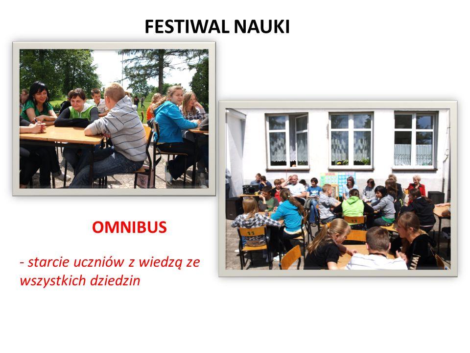 FESTIWAL NAUKI OMNIBUS - starcie uczniów z wiedzą ze wszystkich dziedzin