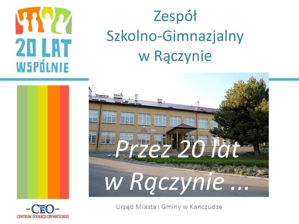 Zespół Szkolno-Gimnazjalny w Rączynie Przez 20 lat w Rączynie... Urząd Miasta i Gminy w Kańczudze