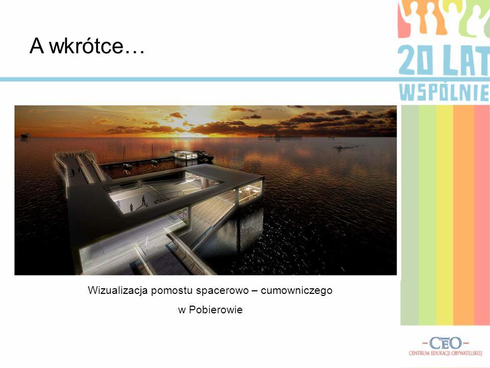 A wkrótce… Wizualizacja pomostu spacerowo – cumowniczego w Pobierowie