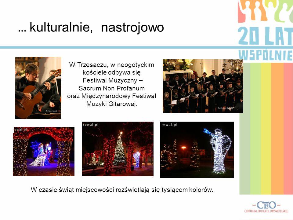 … kulturalnie, W Trzęsaczu, w neogotyckim kościele odbywa się Festiwal Muzyczny – Sacrum Non Profanum oraz Międzynarodowy Festiwal Muzyki Gitarowej. W