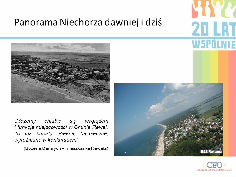 Panorama Niechorza dawniej i dziś Możemy chlubić się wyglądem i funkcją miejscowości w Gminie Rewal. To już kurorty. Piękne, bezpieczne, wyróżniane w