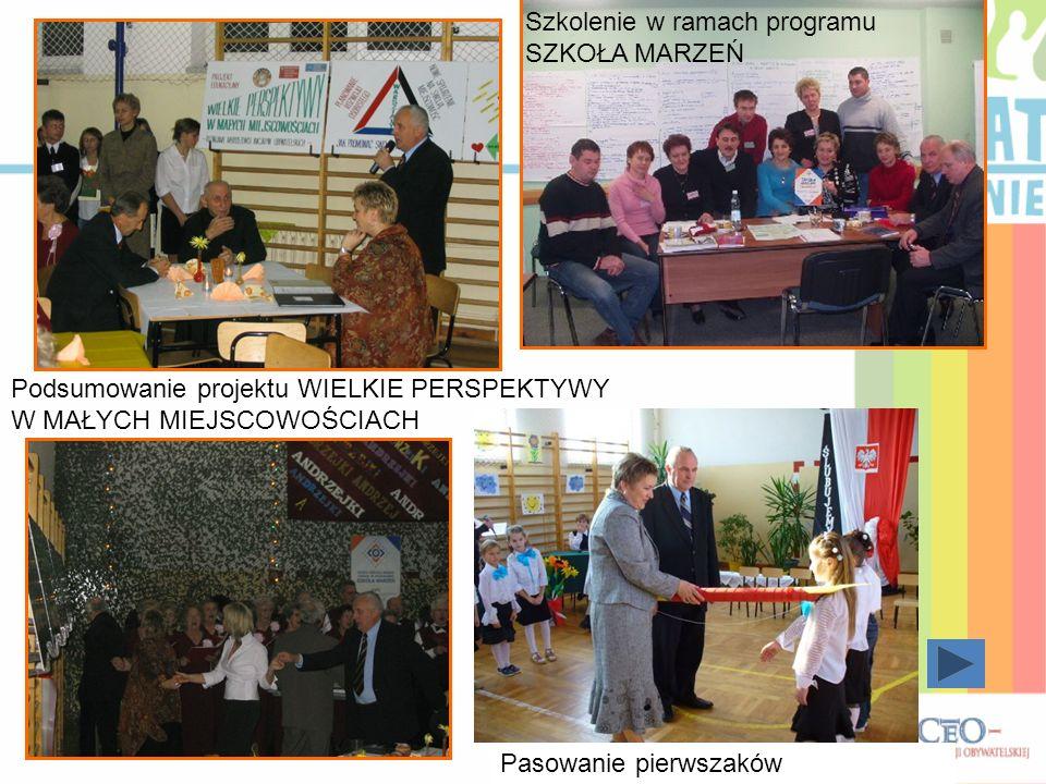 Nadanie sztandaru w szkole w Skorczycach Zakup samochodu dla niepełnosprawnychPiknik w Skorczycach