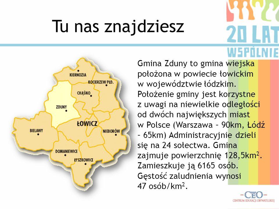 Tu nas znajdziesz Gmina Zduny to gmina wiejska położona w powiecie łowickim w województwie łódzkim. Położenie gminy jest korzystne z uwagi na niewielk
