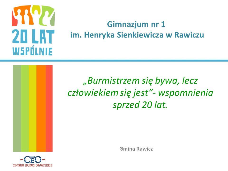 Chcąc poznać atmosferę towarzyszącą wyborom samorządowym sprzed 20 lat zaprosiliśmy na spotkanie pierwszego burmistrza naszej gminy, Pana Bronisława Lachowicza.