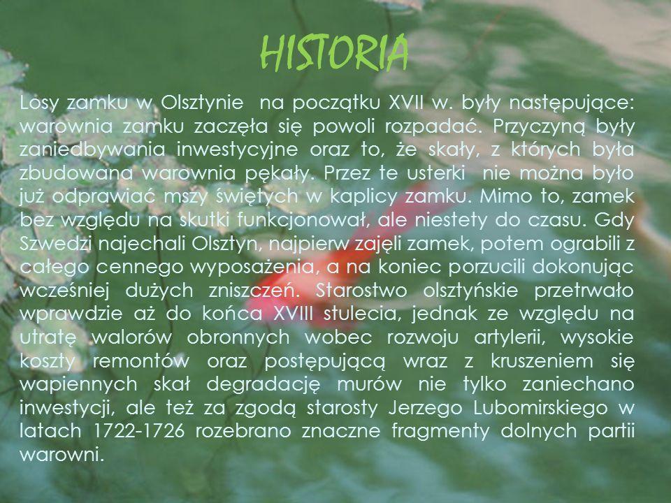 HISTORIA Losy zamku w Olsztynie na początku XVII w.