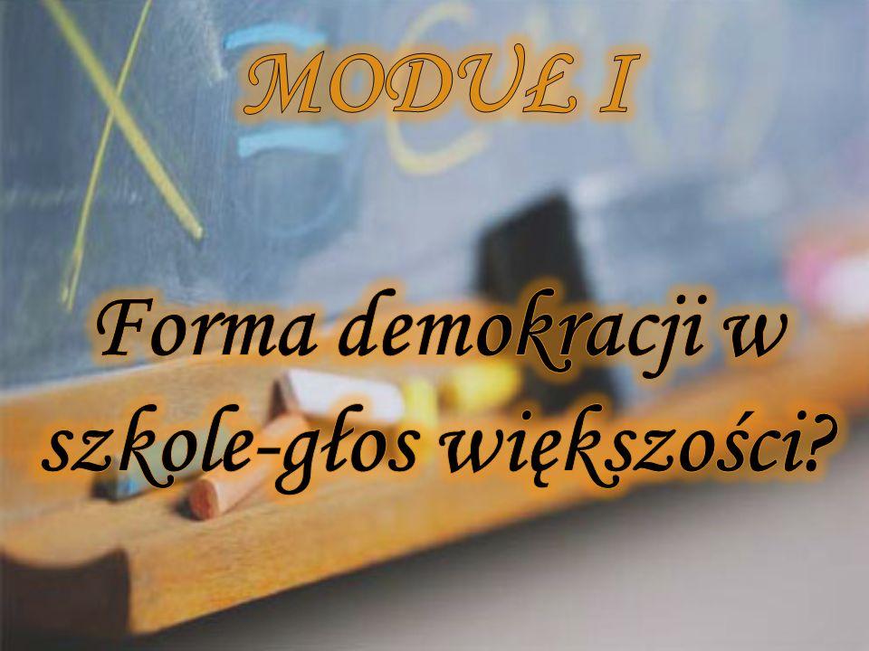 - czy szkoła uczy samorządności i demokra- cji.