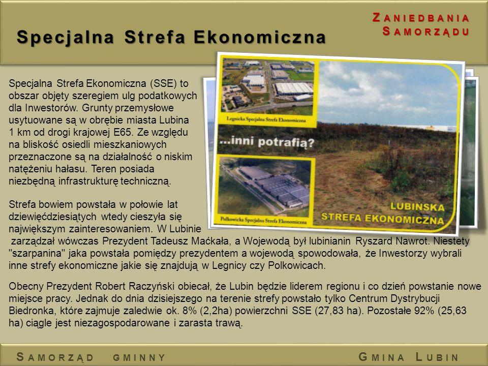 Specjalna Strefa Ekonomiczna Obecny Prezydent Robert Raczyński obiecał, że Lubin będzie liderem regionu i co dzień powstanie nowe miejsce pracy. Jedna