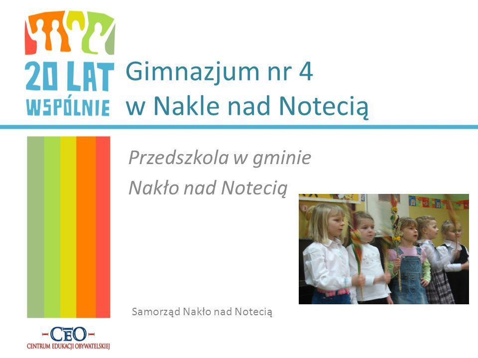 Gimnazjum nr 4 w Nakle nad Notecią Przedszkola w gminie Nakło nad Notecią Samorząd Nakło nad Notecią