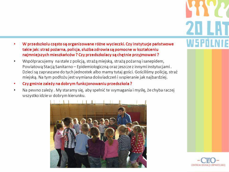 W przedszkolu często są organizowane różne wycieczki.