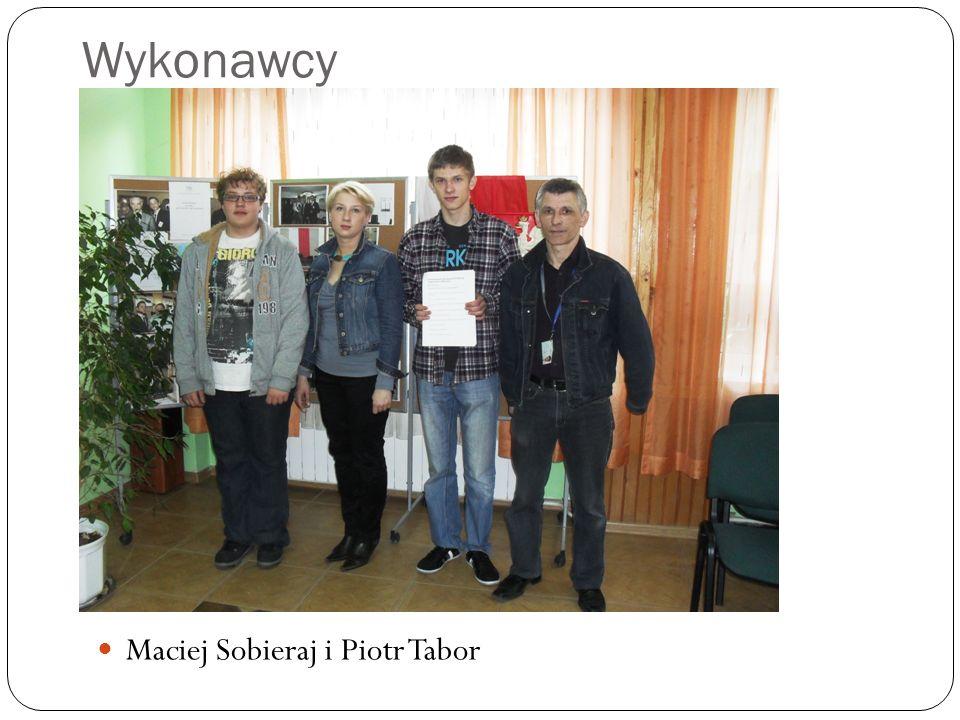 Wykonawcy Maciej Sobieraj i Piotr Tabor