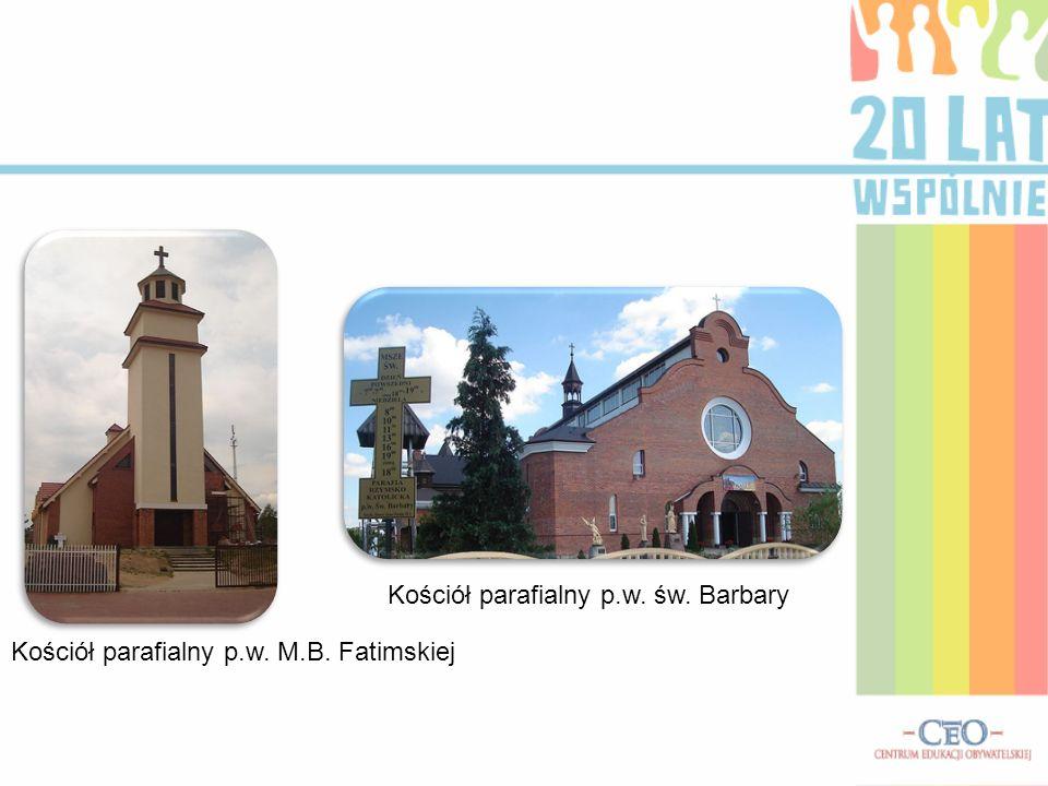Kościół parafialny p.w. św. Barbary Kościół parafialny p.w. M.B. Fatimskiej