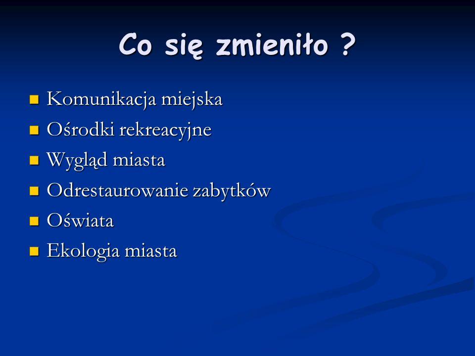 Komunikacja miejska Po 1989r.Duży nacisk w Tychach kładziona na komunikacje miejską.