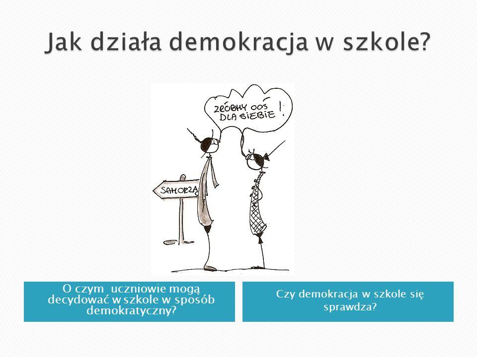 O czym uczniowie mogą decydować w szkole w sposób demokratyczny? Czy demokracja w szkole się sprawdza?