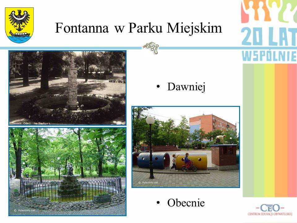 Fontanna w Parku Miejskim Dawniej Obecnie
