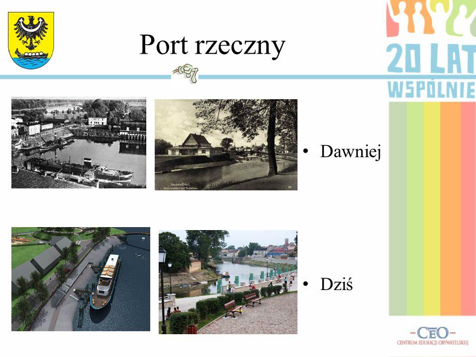 Port rzeczny Dawniej Dziś