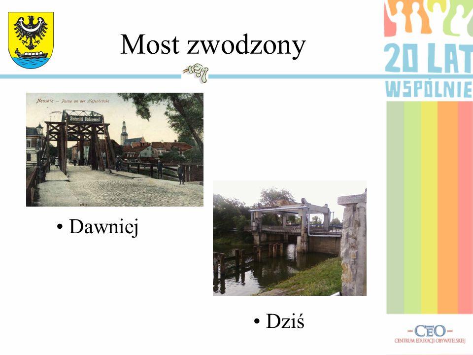 Most zwodzony Dawniej Dziś