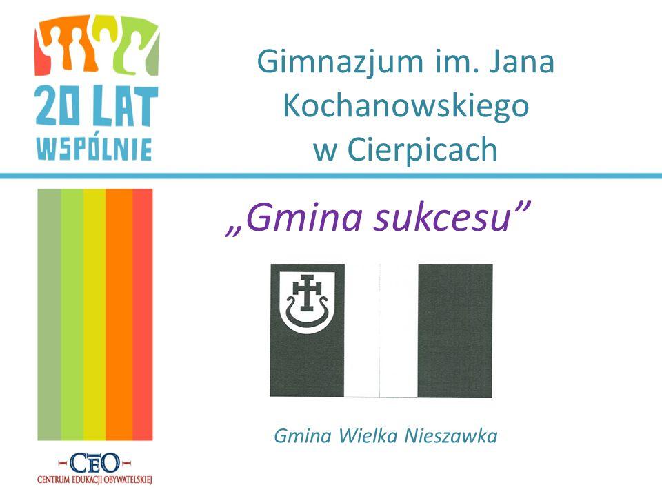 Gimnazjum im. Jana Kochanowskiego w Cierpicach Gmina sukcesu Gmina Wielka Nieszawka